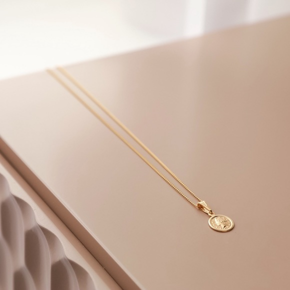 11thstreet Jewelry - Petite Goddess Coin Necklace | 18kt Gold Filled